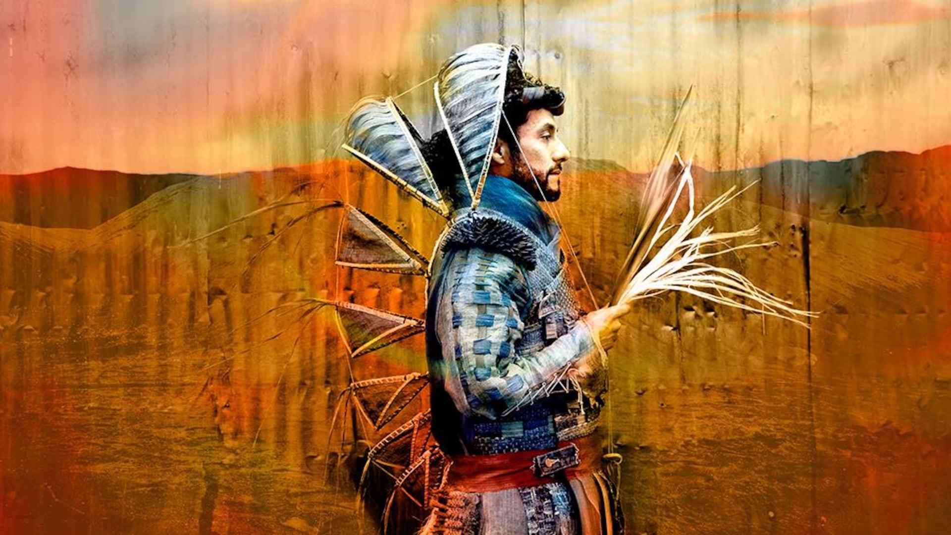 Illustration de Nicole Dextras représentant un homme vêtu d'un costume dont une partie qui peut couvrir la tête est rétractable.