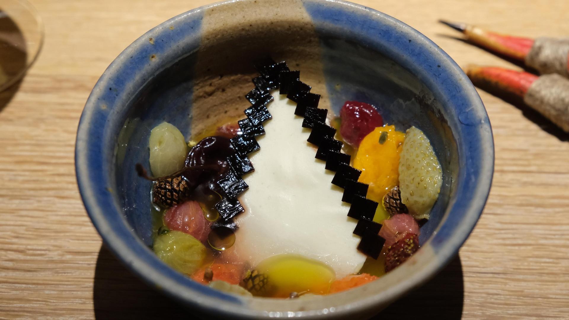 Un dessert chez Noma.