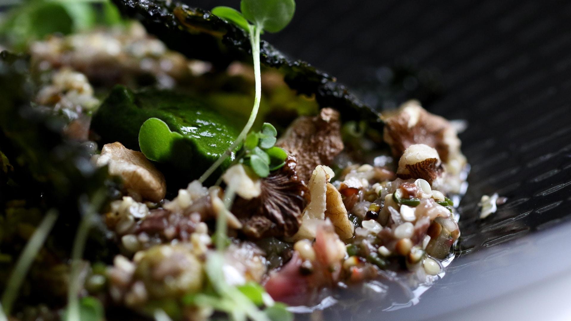 Le fameux ravioli de kale et labneh du bistro L'Orygine.