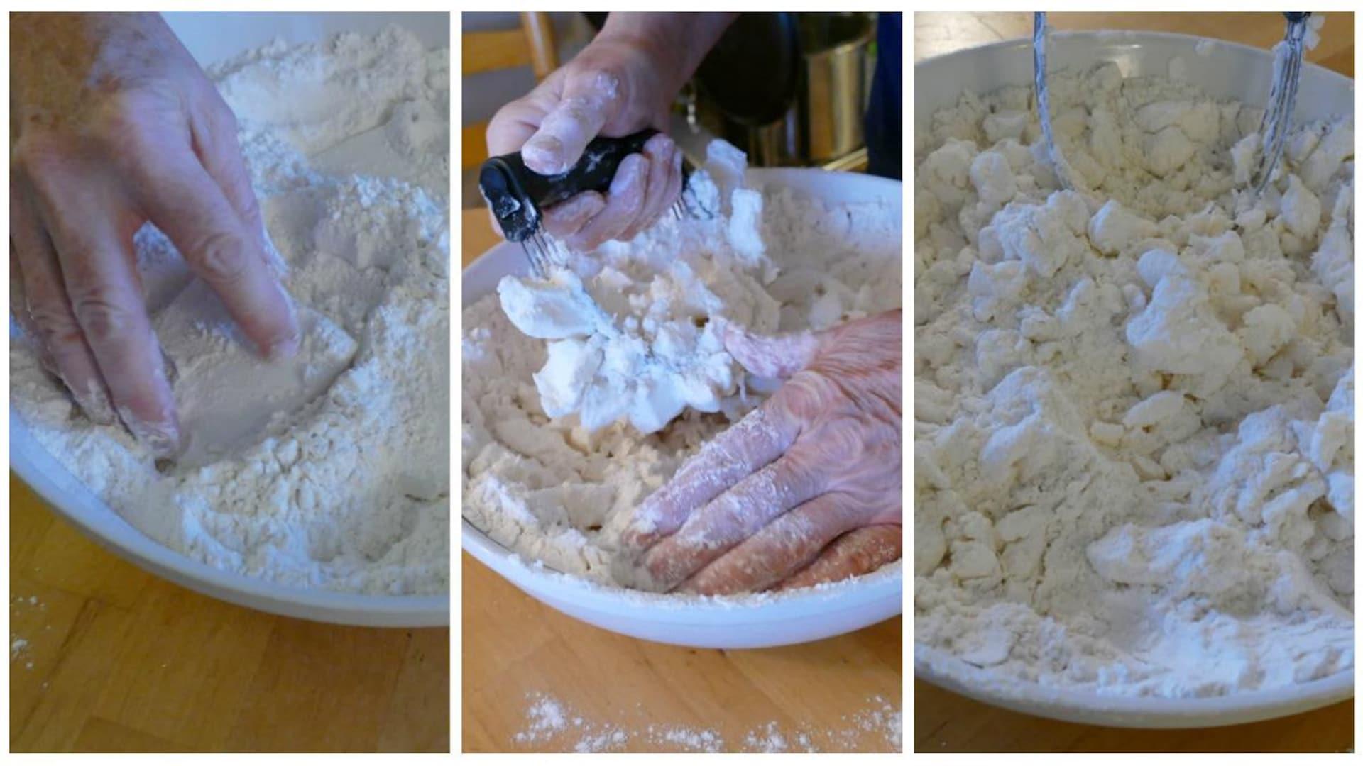 Mélanger la farine et la graisse