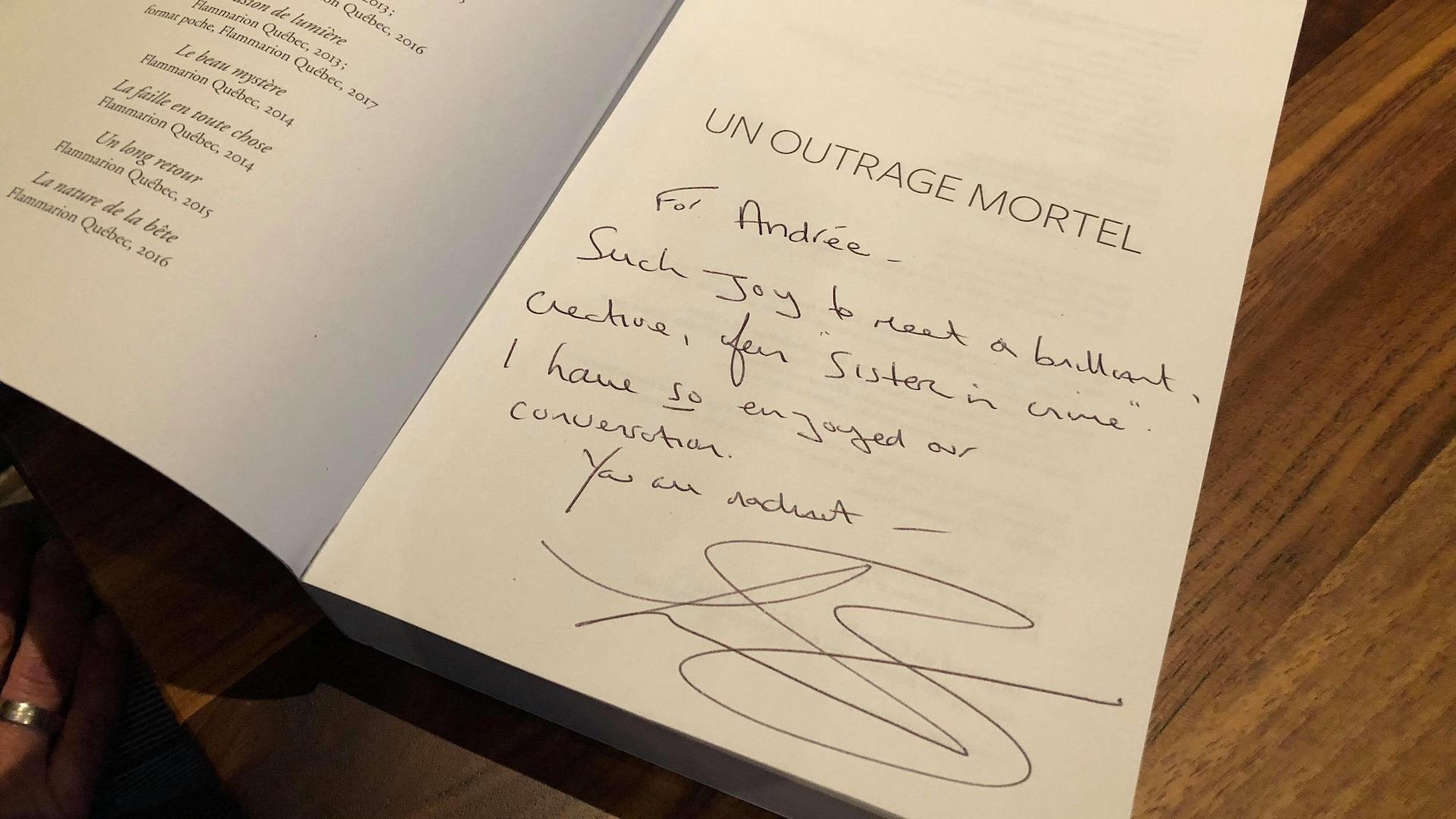 Les auteures Andrée A. Michaud et Louise Penny sont toutes les deux invitées d'honneur du Salon du livre de Montréal 2017