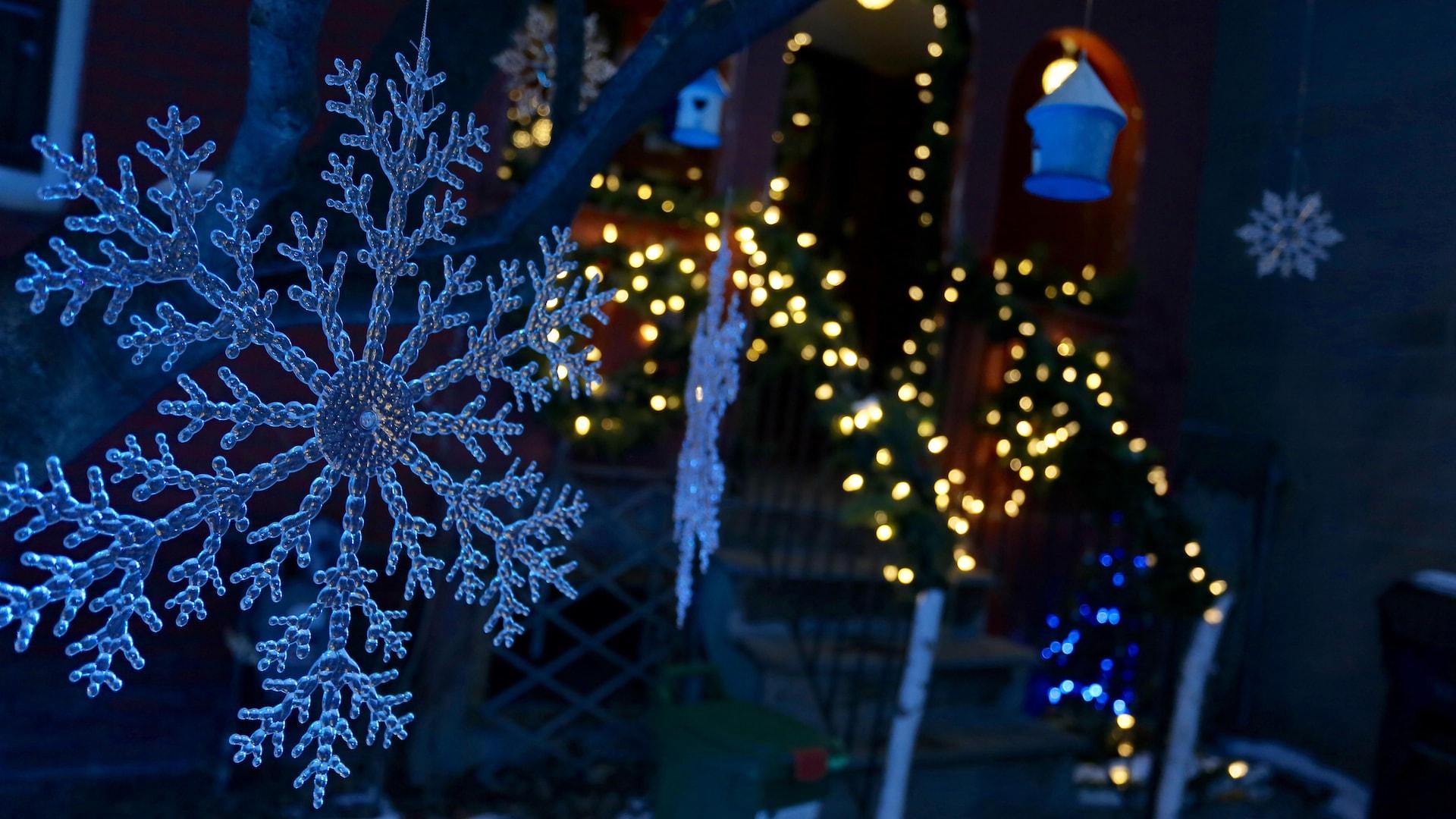 Photo de lumières de Noël