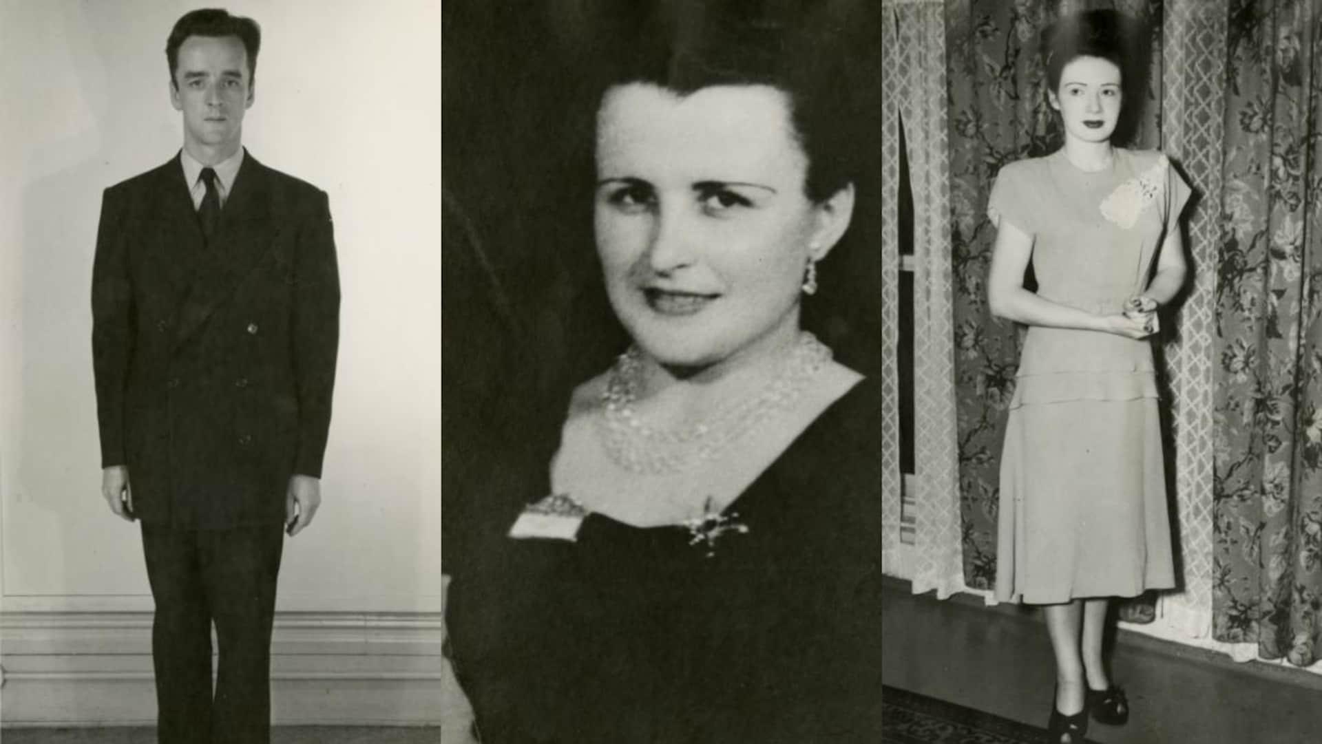 Trois photos l'une à côté de l'autre : Albert Guay, Rita Morel et Marie-Ange Robitaille