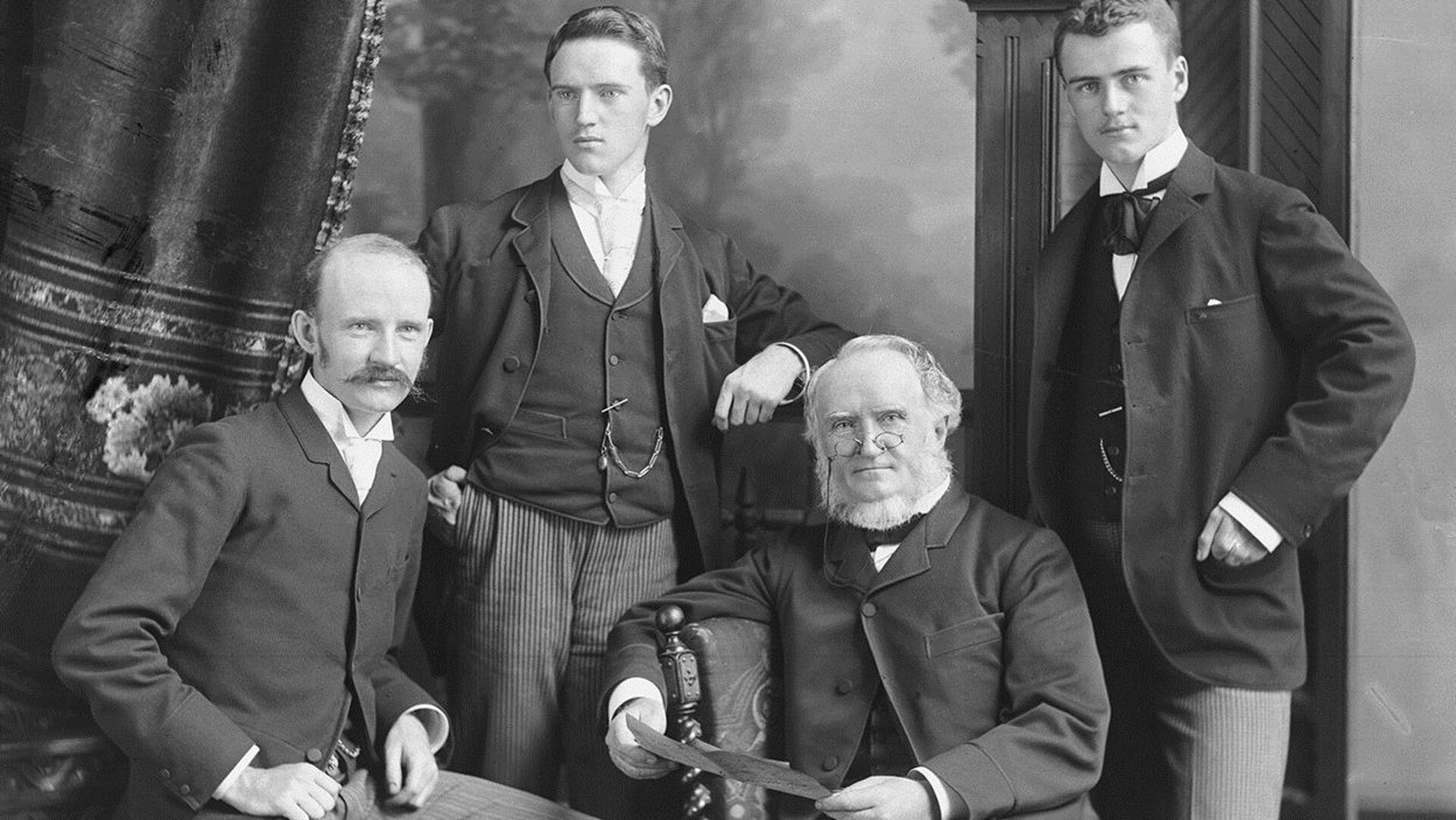 William Notman et ses fils, William McFarlane, George et Charles, Montréal, 1890