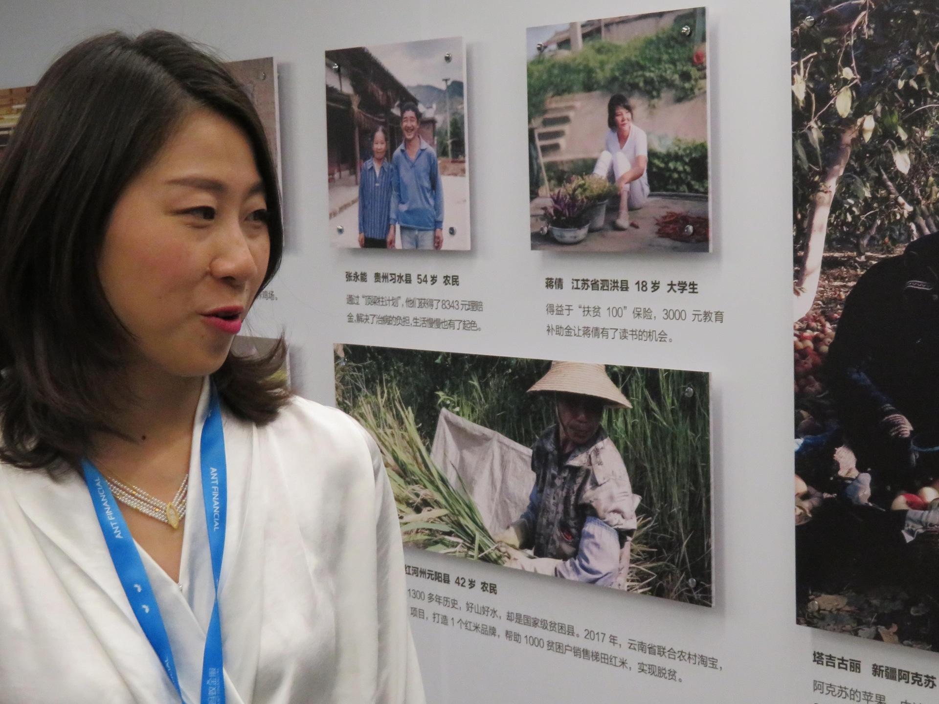 Bai Xue, une des membres fondateurs de Ant Forest. Hangzou, décembre 2018.