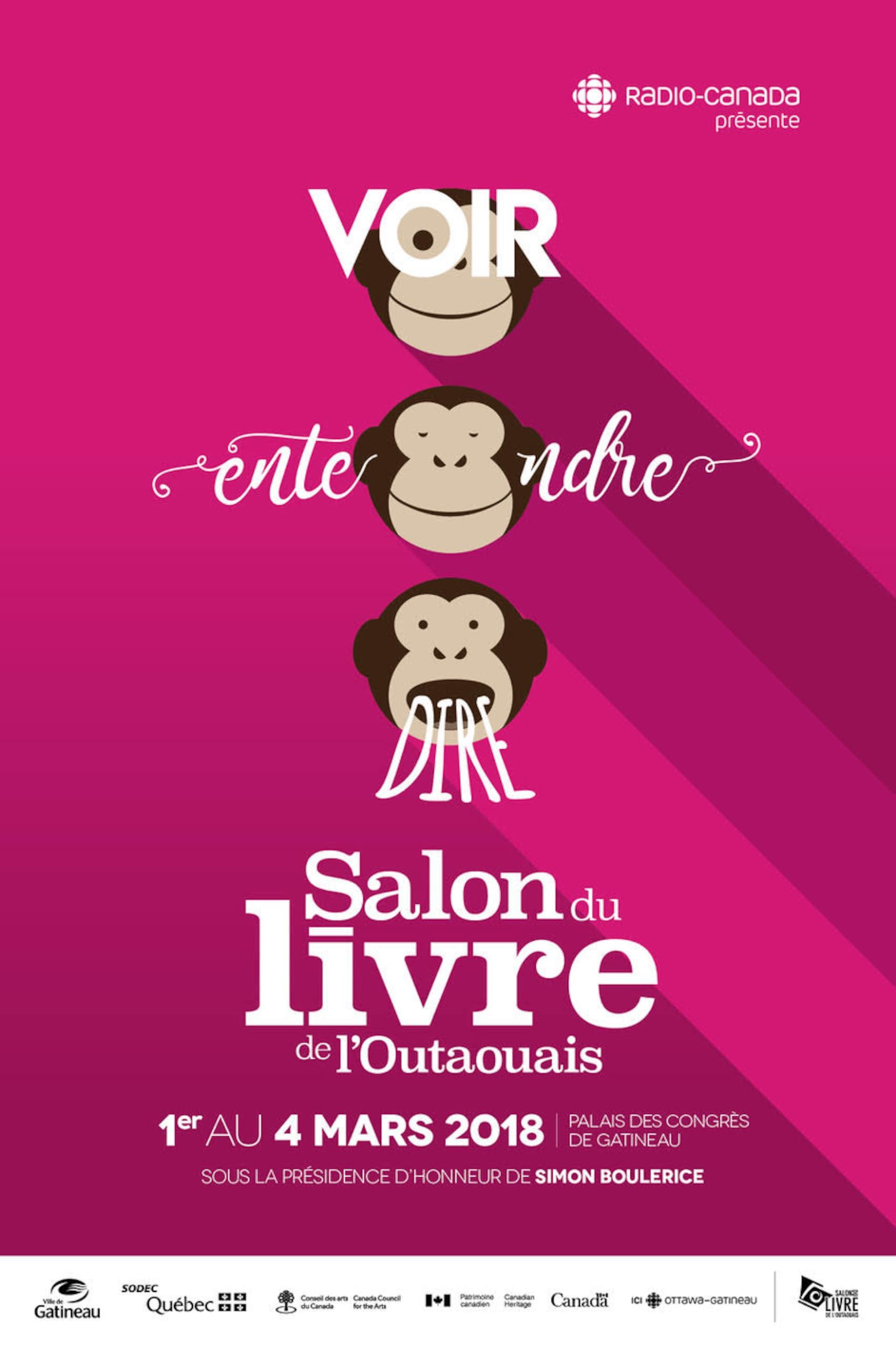 L'affiche du Salon du livre de l'Outaouais 2018.