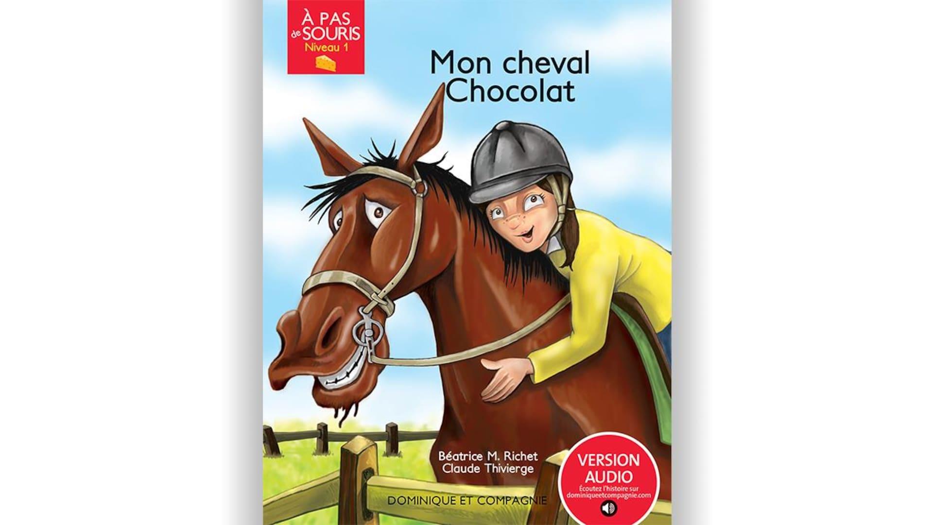 Page couverture du livre Mon cheval Chocolat.