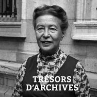L'écrivaine et philosophe Simone de Beauvoir à Paris en 1971.