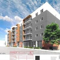 Croquis de l'immeuble à logement qui prendra place au 156 rue Marion à Winnipeg.