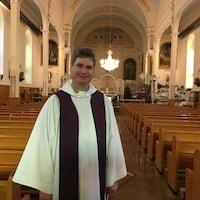 L'abbé François Doucet à la Cathédrale de Trois-Rivières.