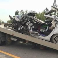 Une carcasse de voiture (archives)