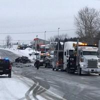 Un accident survenu sur la route 112, près d'East Broughton