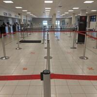 L'intérieur de l'aéroport de Charlottetown.