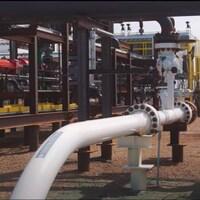 Les installations de capture du carbone près de la raffinerie Sturgeon, près d'Edmonton.
