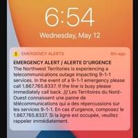 Capture d'écran de l'alerte envoyée par le gouvernement.