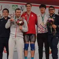 Alex Bellemarre aux Championnats du monde universitaires d'haltérophilie