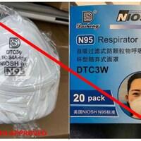 Des masques N95 non approuvés.