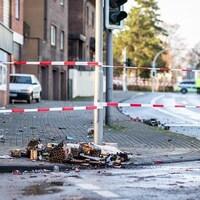 Une zone bouclée sur les lieux de l'attaque « anti-migrants » lors des célébrations du Nouvel An à Bottrop, en Allemagne.