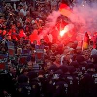 Manifestation d'extrême droite à Chemnitz en Allemagne après la mort violente d'un citoyen ce week-end.