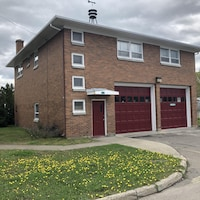 une caserne de pompiers