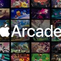 Le logo d'Apple Arcade et des images de plusieurs des jeux disponibles sur la plateforme.