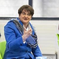 Arlene Foster, première ministre d'Irlande du Nord, le 27 avril 2021.