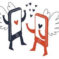 Deux cellulaires en amour.
