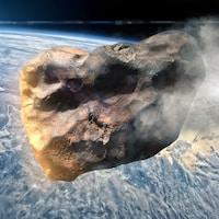 Illustration de la NASA montrant un astéroïde s'approchant de la Terre.