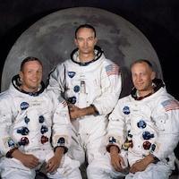 Photo des astronautes de la mission Apollo 11.