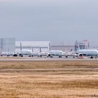 Des appareils d'Air Canada cloués au sol à l'aéroport Pearson de Toronto.