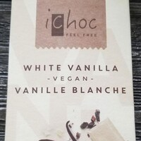 Barre végane blanche à la vanille de marque de marque iChoc.