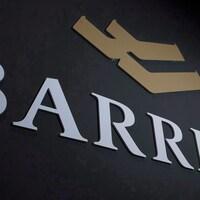 Le logo de l'entreprise minière Barrick Gold.