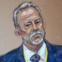 Illustration montrant Barry Brodd, un homme à la barbe et aux cheveux blancs, à la barre.