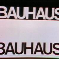 Affiche avec l'inscription Bauhaus.