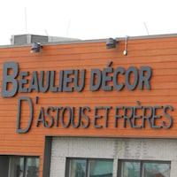 L'enseigne du magasin de décoration Beaulieu Décor, à Rimouski.