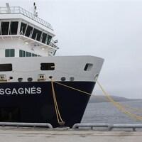 Le Bella Desgagnés accosté au port de Sept-Îles