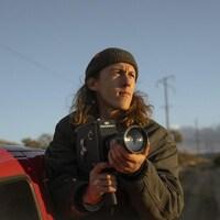 Benoit Lalande lors d'un tournage extérieur en Californie.