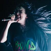 Billie Eillish lors d'une performance au festival Coachella en 2019.