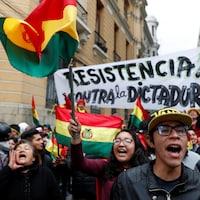 Une manifestation contre le président Evo Morales à La Paz.