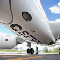 Un avion de la C Series de Bombardier