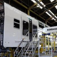 Une usine ferroviaire de Bombardier.