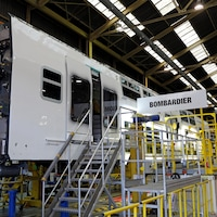 Une usine de Bombardier Transport en France.