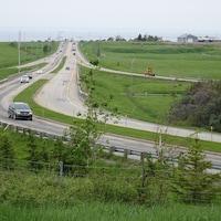 Les bretelles qui relient l'autoroute 20 à la montée Industrielle-et-Commerciale à Rimouski.