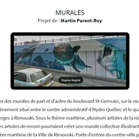 Capture d'écran du projet de murale de Martin Parent-Roy