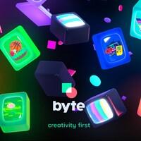 Le logo de Byte avec différents écrans colorés.