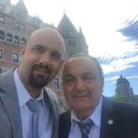 Calile Haddad et son père Alain Haddad