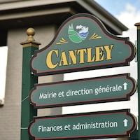 Un panneau de Cantley.