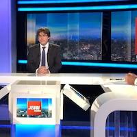 Le président catalan déchu Carles Puigdemont en entrevue à la télévision publique belge