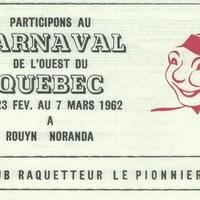 Image promotionnelle du Carnaval de l'ouest québécois 1962