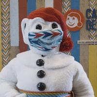 Le Bonhomme Carnaval avec un masque
